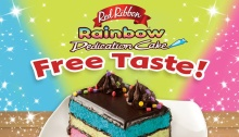 Red Ribbon Rainbow Dedication Cake Free Taste FI