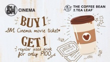 SM Downtown Premier Cinema and Coffee Bean and Tea Leaf Promo FI