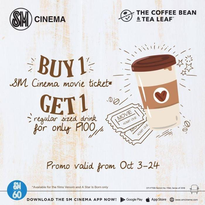 SM Downtown Premier Cinema and Coffee Bean and Tea Leaf Promo