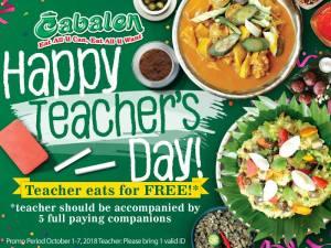 Teachers Eat for FREE at Cabalen Restaurant