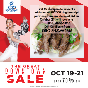 The Great Downtown Sale oro shawarma