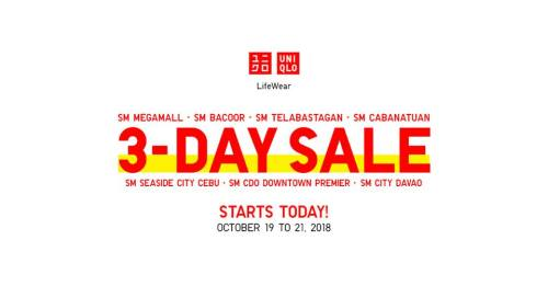 The Great Downtown Sale uniqlo
