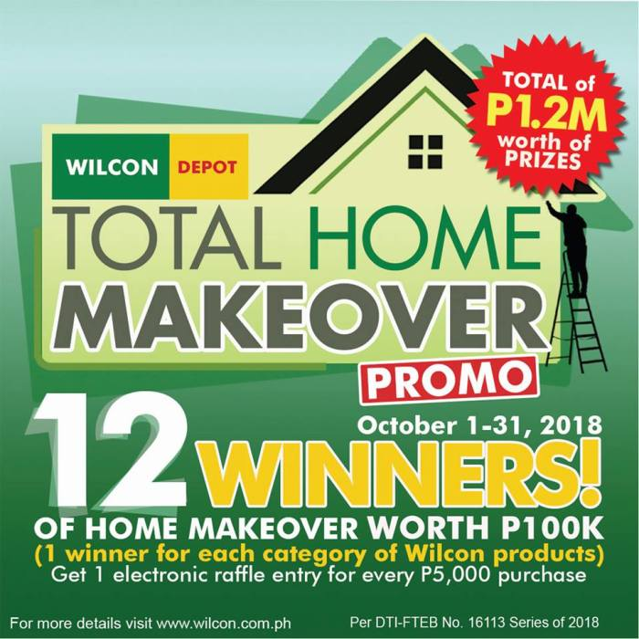 Wilcon Total Home Makeover Promo detailed