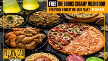Yellow Cab FREE 10inches The Bronx Creamy Mushroom Pizza FI