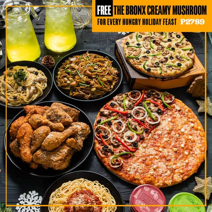 Yellow Cab FREE 10inches The Bronx Creamy Mushroom Pizza