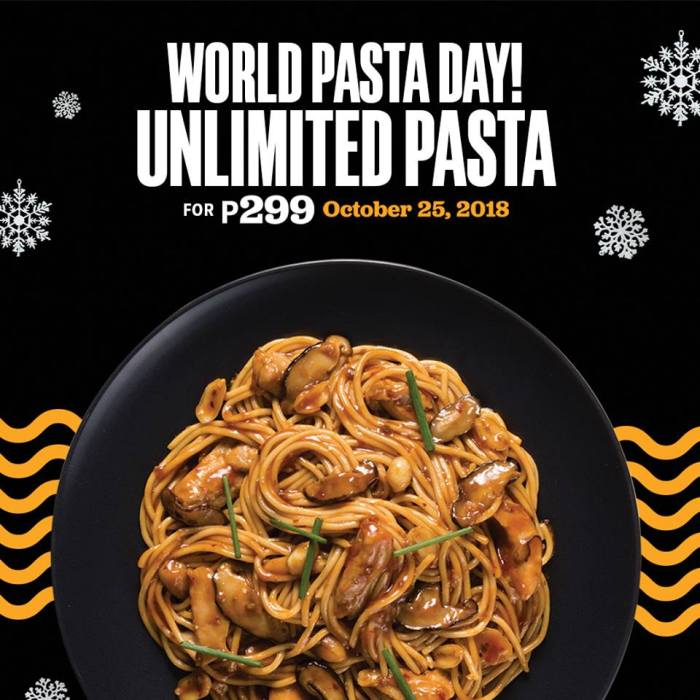 Yellow Cab UnliPasta on World Pasta Day