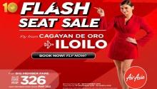 airAsia Flash Seat Sale CDO to Iloilo FI