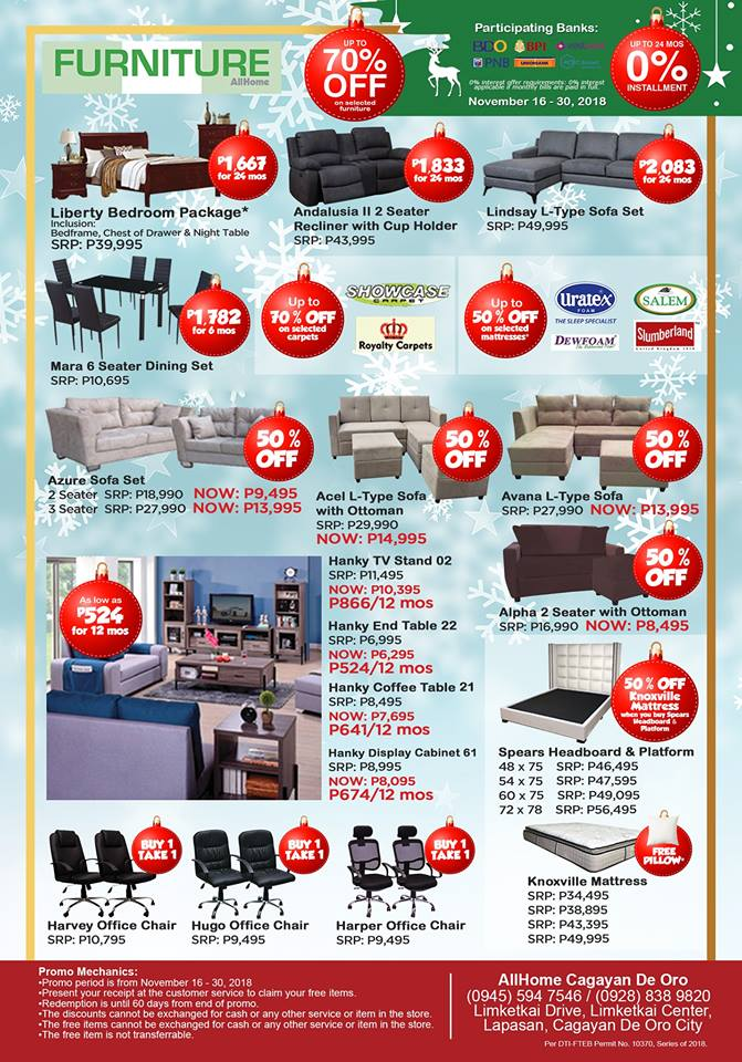 AllHome CDO Grand Christmas Offers list