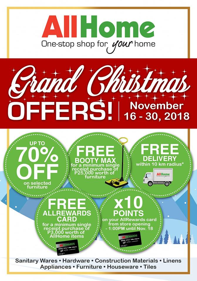 AllHome CDO Grand Christmas Offers