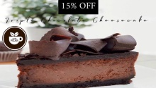 Cafe Pilar 15% OFF on Triple Chocolate Cheesecake FI