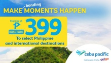 Cebu Pacific P399 Base Fare FI