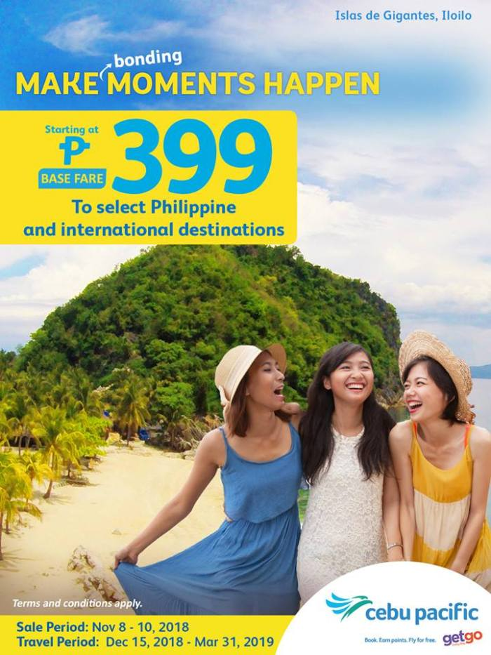 Cebu Pacific P399 Base Fare