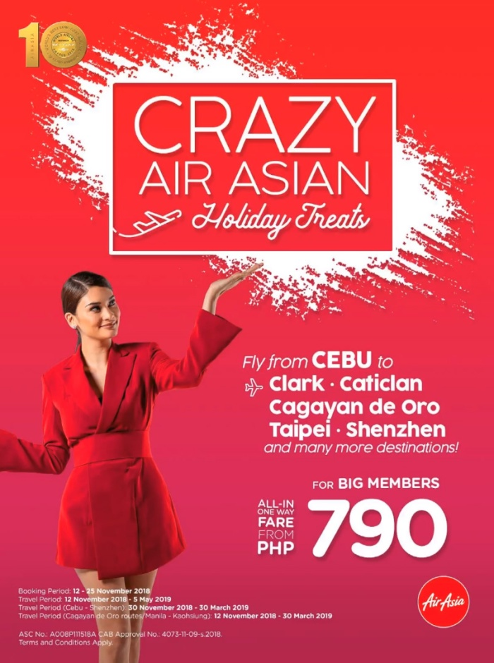 AirAsia Crazy Air Asian Holiday Treat Cebu to CDO