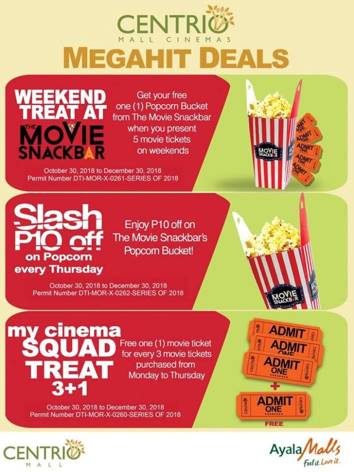 Centrio Mall Cinema Megahit Deals