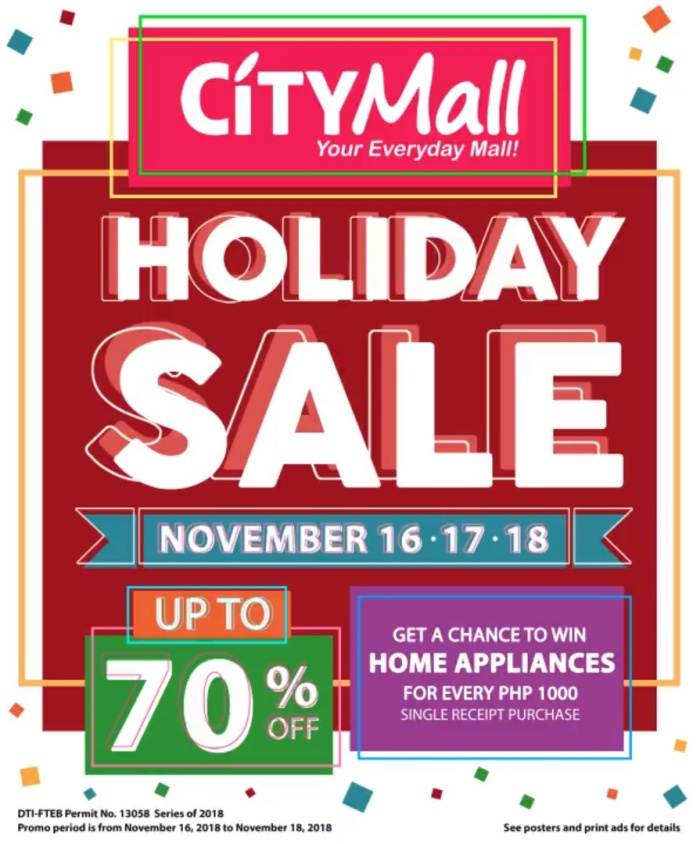 CityMall Holiday Sale portait