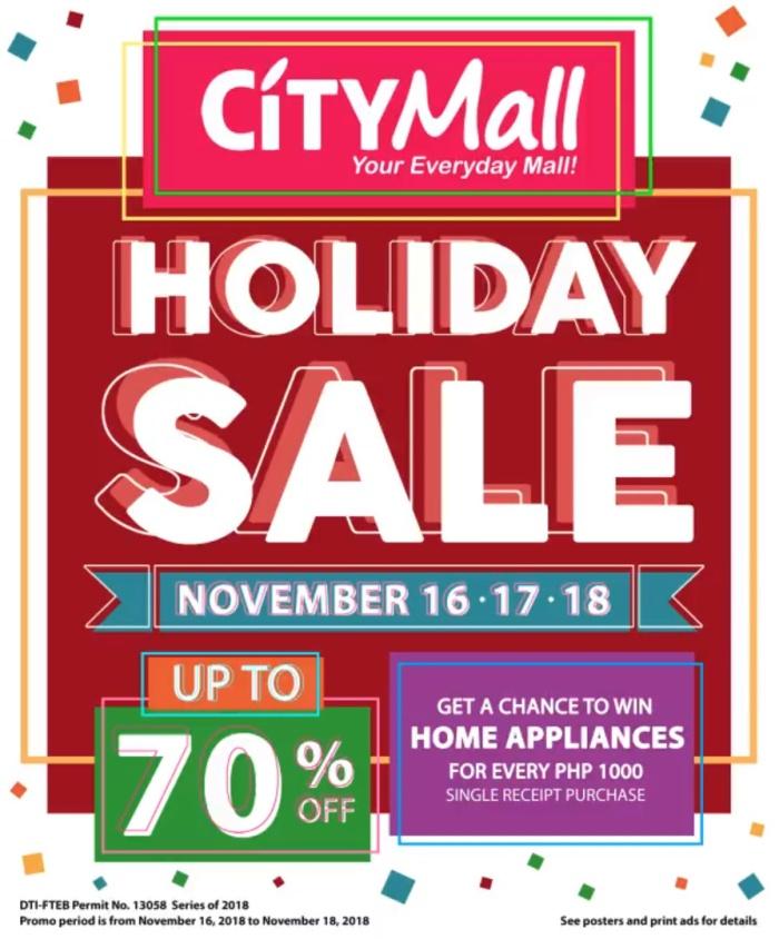 CityMall Holiday Sale portait