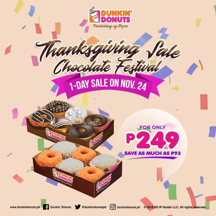 Dunkin' Donuts CDO Thanksgiving Sale Chocolate Festival