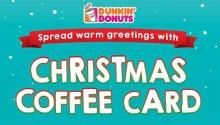 Dunkin' Donuts Christmas Coffee Card FI