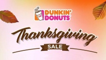 Dunkin' Donuts Thanksgiving Sale FI