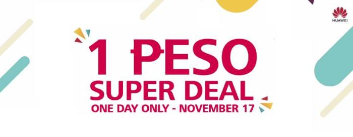 huawei 1 peso super deal