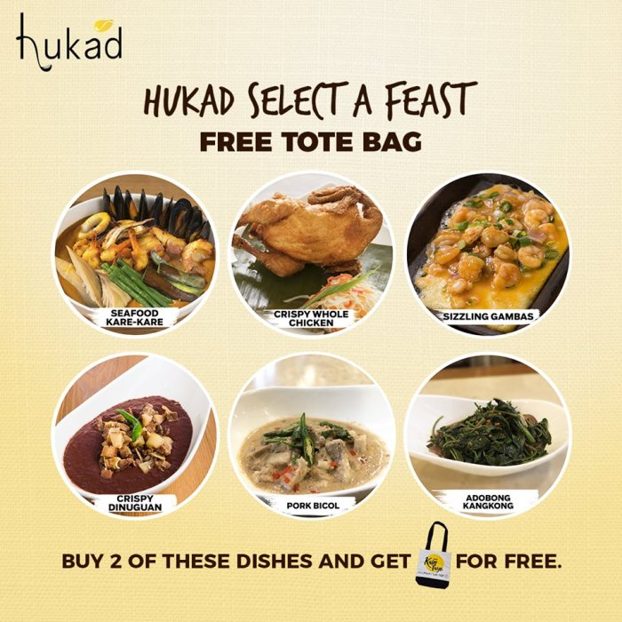 Hukad Select a Feast - FREE Tote Bag