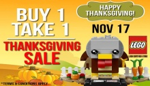 LEGO Certified Store Thanksgiving Sale FI