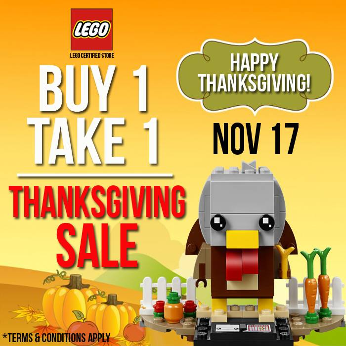 LEGO Certified Store Thanksgiving Sale