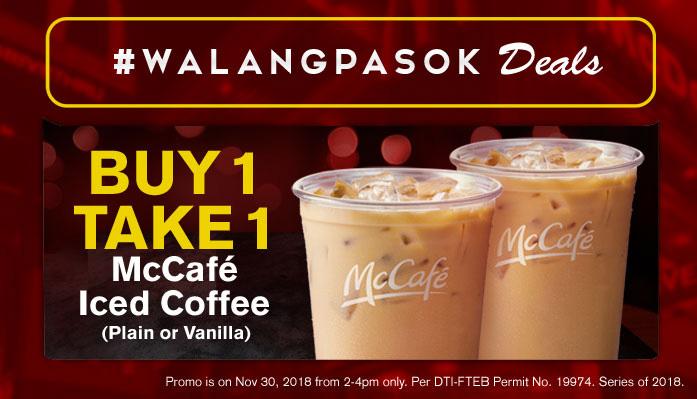 McDonald's buy 1 take iced coffee website FI