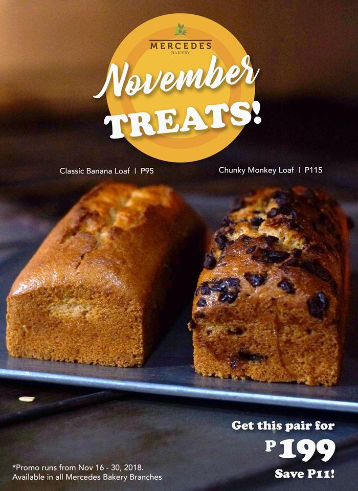 Mercedes Bakery November Treats