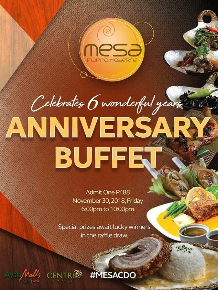 Mesa Anniversary Buffet