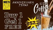 Nic's Pizza Baguettes Limketkai 1st Year Anniversary Promo FI