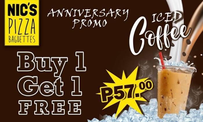 Nic's Pizza Baguettes Limketkai 1st Year Anniversary Promo