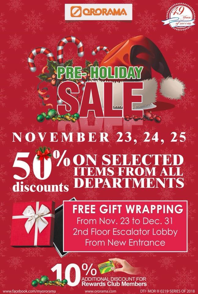 Ororama Pre-Holiday Sale