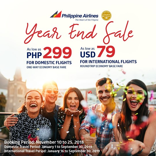 Philippine Airlines year end sale Sq