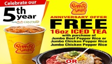 Pepper Lunch CDO 5th Anniversary Offer FI