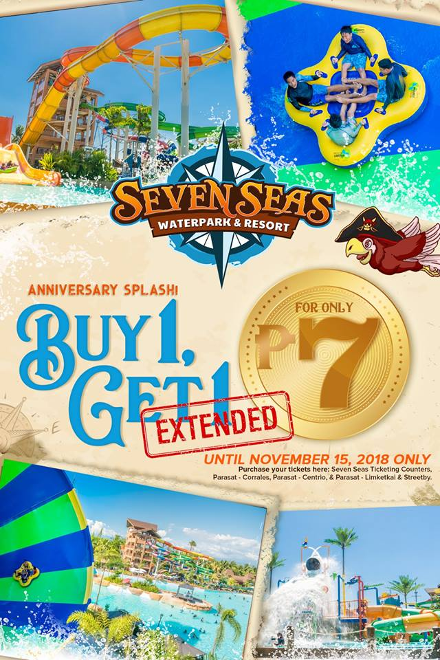 Seven Seas Waterpark 1st Yeary Anniversary Promo extended