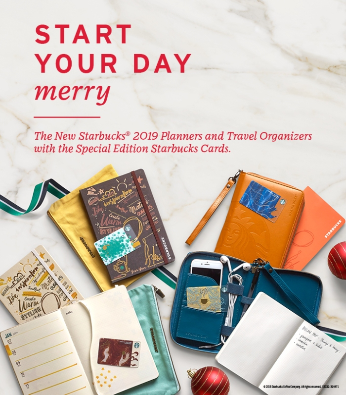 Starbucks Christmas Traditions - Starbucks 2019 Planner and Travel Organizer