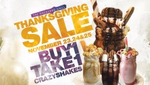 The Backyard Grill Thanksgiving Sale Buy 1 Take 1 Crazyshakes FI