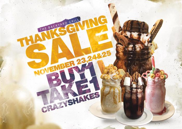 The Backyard Grill Thanksgiving Sale Buy 1 Take 1 Crazyshakes