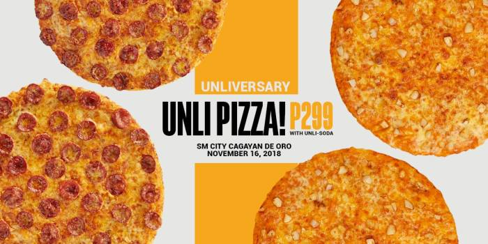 Unliversary Unli-Pizza at Yellow Cab SM City CDO
