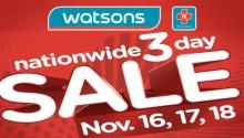 watsons 3 day sale FI