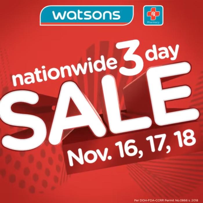Watson's 3day sale sq 2018