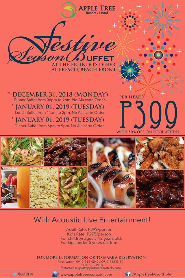 Apple Tree Resort Festive Season Buffet