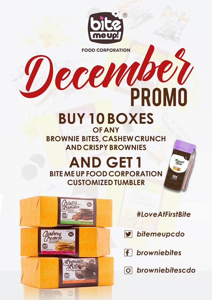 Bite Me Up Brownie Bites December Promo