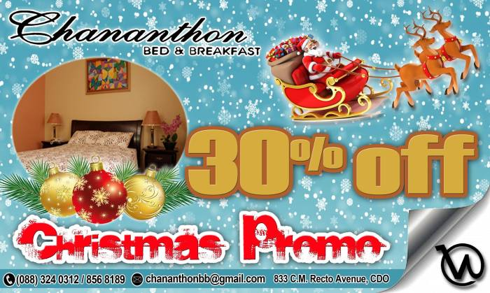 Chananthon Bed and Breakfast Christmas Promo