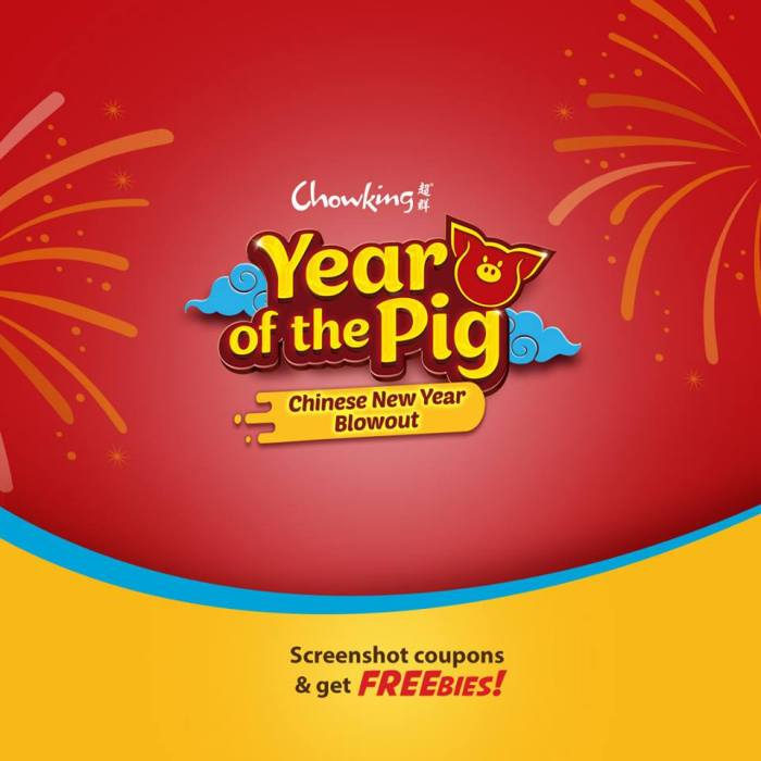 Chowking Year of the Pig Chinese New Year Blowout front