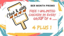 Clark and Nikks FREE 1 Unlimited Chicken Wings FI