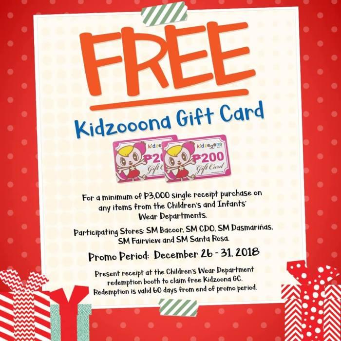 FREE Kidzooona Gift Card