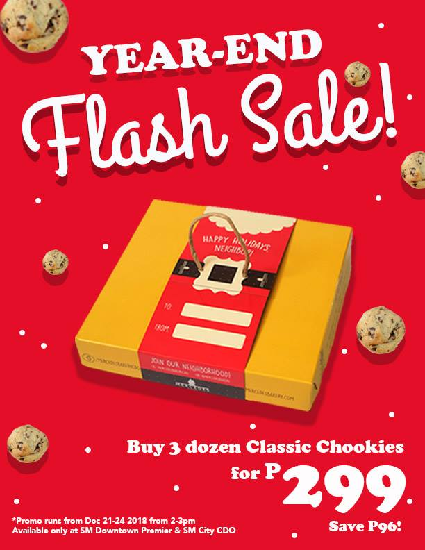 Mercedes Bakery Year-End Flash Sale chookies