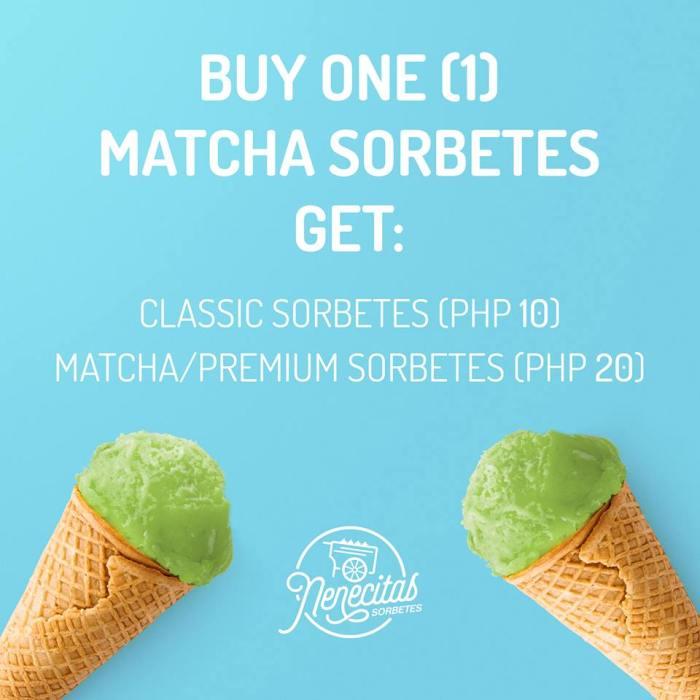 Nenecitas Sorbetes Matcha and 2nd Ice Cream Promo